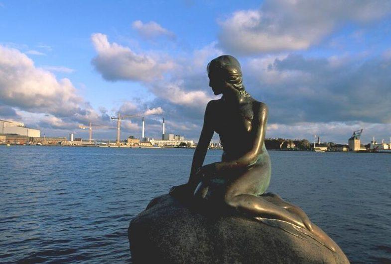 The Little Mermaid at Langelinie in Copenhagen