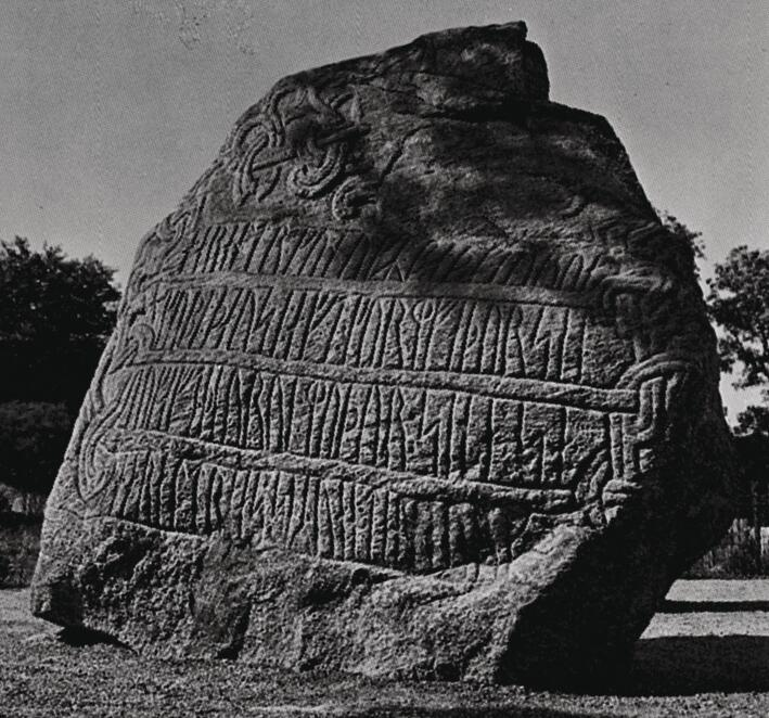 The largest Jelling stone from East Jutland
