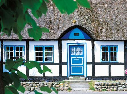 House with half-timbered houses on Samsø