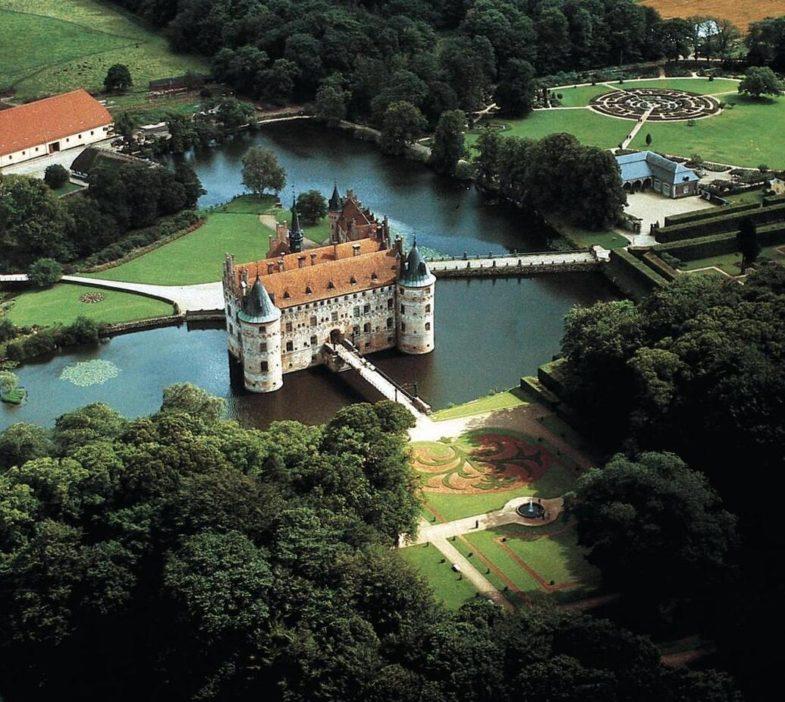 Landscape with Egeskov castle