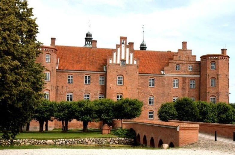 Old Estrup castle in Jutland