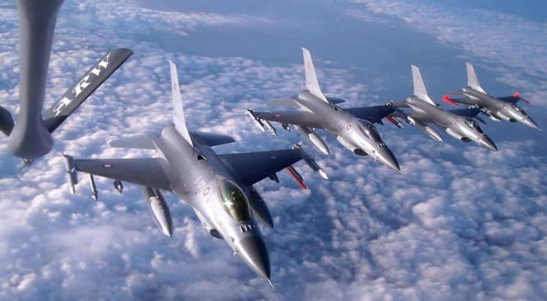 F-16AM fighter aircraft from the Danish Air Force