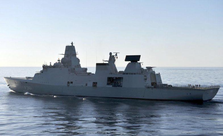 The Danish frigate Iver Huitfeldt