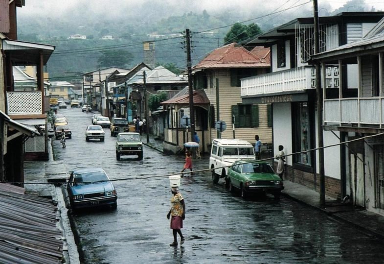 The rainfall in Dominica is large