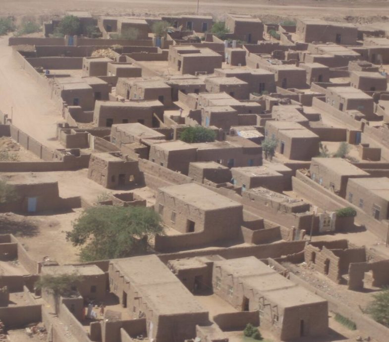 Typical village building along the Nile River in northern Sudan