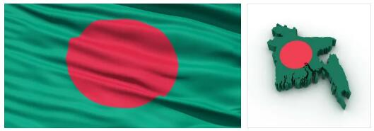 Bangladesh Flag and Map