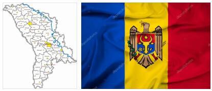Moldova Flag and Map 2