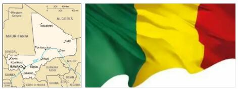 Mali Flag and Map