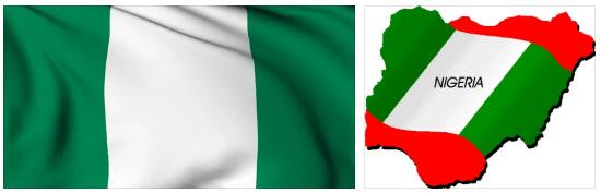 Nigeria Flag and Map 2