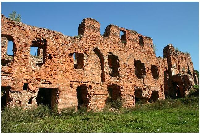 Old order castle in Neman