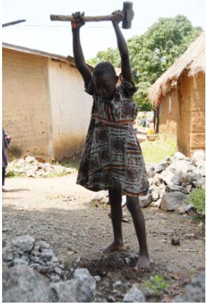 Benin Child labor in a village near Dassa
