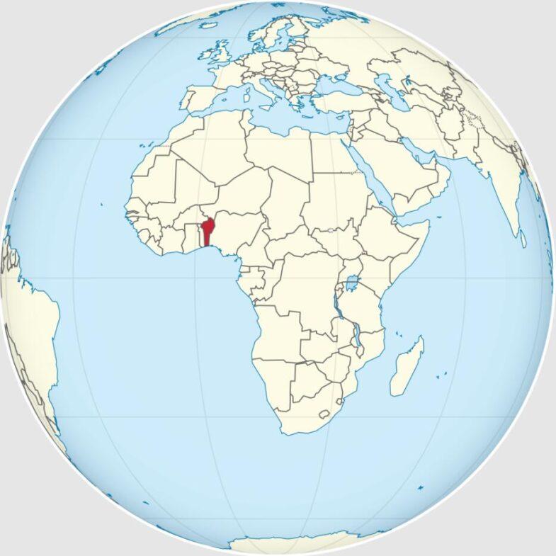 Location of Benin in Africa