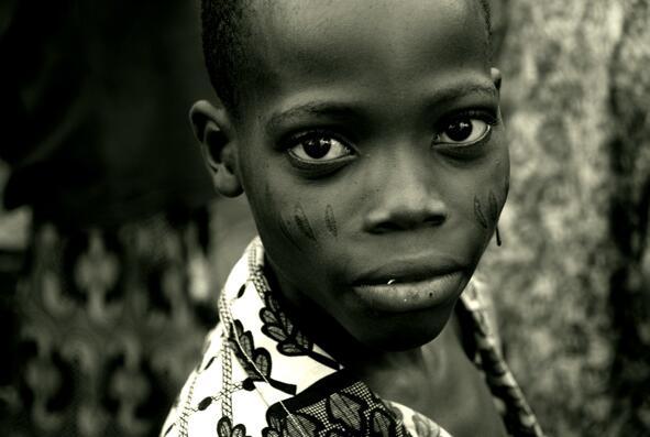 A boy in a market Benin