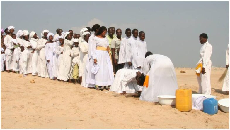 Church of Heavenly Christians on the beach in Cotonou Benin