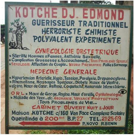 traditional healer in Porto Novo Benin