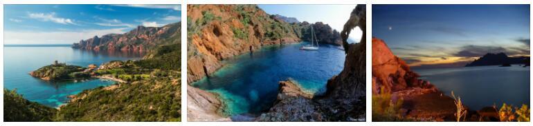 Scandola Peninsula in Corsica